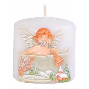 Candles Anjel s trumpetu vonná sviečka valec 50 x 50 mm