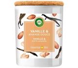 Air Wick Essential Oils Vanilla Bean & Sweet Almond - Vanilka a sladké mandle vonná sviečka sklo 185 g