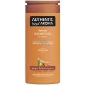 Authentic Toya Aroma Ginger & Lemongrass aromatický sprchový gel 400 ml