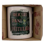 Bohemia Gifts & Cosmetics Keramický hrnek s obrázkem Děkuji paní učitelko 350 ml