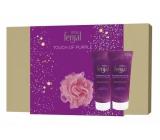 Fenjal Miss Touch of Purple sprchový gél pre ženy 200 ml + telové mlieko 200 ml + špongia, kozmetická sada