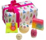 Bomb Cosmetics Vianočný strom - O Christmas Tree balistik 160 g + špalíček 50 g + gulička 30 g + mydlo 2 x 100 g, kozmetická sada