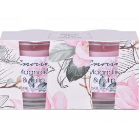 Emóciám Magnolia & Tulip - Magnólia a tulipán vonná sviečka sklo 50 x 63 mm 2 kusy v krabičke