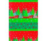 Ditipo Darčekový baliaci papier 70 x 150 cm Vianočné strieborný ťažidlá