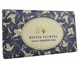 English Soap Vintage Winter Flowers prírodné parfumované toaletné mydlo s bambuckým maslom 190 g