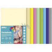 Apli Farebné papiere A4 mix pastelových farieb 170 g 50 listov