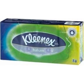 Kleenex Balsam Hanks hygienické vreckovky štvorvrstvové 8 x 9 kusov