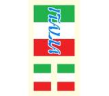 Arch Tetovací obtisky na obličej i tělo Italská vlajka 1 motiv