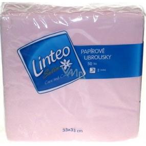 Linteo Satin papierové obrúsky 33 x 33 cm 50 kusov svetlo ružové