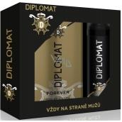 Astrid Diplomat Forever toaletná voda pre mužov 100 ml + deodorant sprej pre mužov 150 ml, darčeková sada