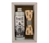 Bohemia Gifts & Cosmetics Motorkár Olivový olej sprchový gél 250 ml + drevený motýľ kozmetická sada