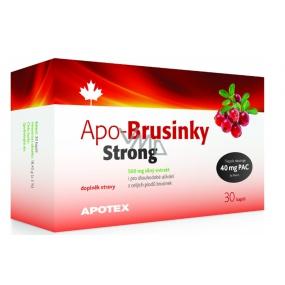 Apotex Apo-Brusnice Strong silný extrakt z celých plodov, doplnok stravy 500 mg 30 kapslí