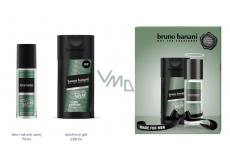 Bruno Banani Made parfumovaný deodorant sklo pre mužov 75 ml + sprchový gél 250 ml, darčeková sada