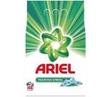 Ariel Mountain Spring prací prášok pre čisté a voňavé bielizeň bez škvŕn 48 dávok 3,6 kg