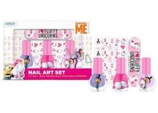 Mimoni Fluffy Laky na nechty zlupovaciu 3 x 5 ml + samolepky + pilník na nechty, kozmetická súprava pre deti
