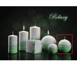Lima Aromatická spirála Relaxy svíčka bílo - zelená koule 80 mm 1 kus