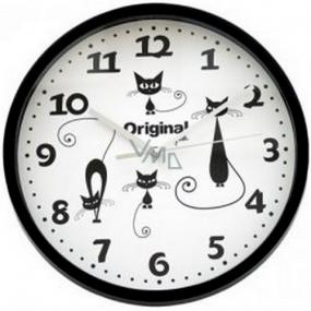 Albi Original Nástenné hodiny Čierne mačky 25,5 cm × 25 cm