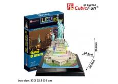 CubicFun Puzzle 3D Socha Slobody LED svietiaci 37 dielikov 20,4 x 24,8 x 24,8 cm