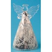 Anjel sklenený s námrazou na postavenie 12 cm