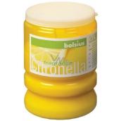 Bolsius Aromatic Citronela repelentný vonná sviečka proti komárom, v plaste, citrónovo žltá 65 x 86 mm