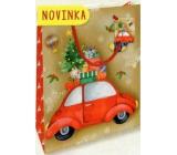 Nekupto Darčeková papierová taška malá 14 x 11 x 6,5 cm Vianočná 1796 30 WBS