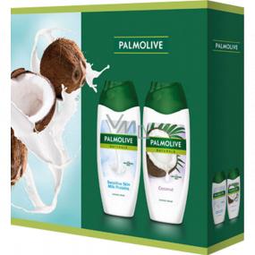 Palmolive Naturals Milk Proteins sprchový gél 250 ml + Coconut sprchový gél 250 ml, kozmetická sada