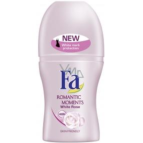 Fa Romantic White Rose kuličkový deodorant roll-on pro ženy 50 ml