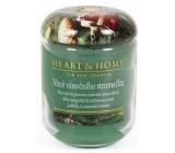 Heart & Home Vôňa vianočného stromčeka Sójová vonná sviečka veľká horí až 70 hodín 310 g