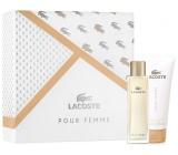 Lacoste pour Femme toaletná voda 50 ml + telové mlieko 100 ml, darčeková sada