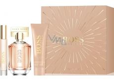 Hugo Boss Boss The Scent parfémovaná voda pro ženy 50 ml + parfémovaná voda 7,4 ml + tělové mléko 100 ml, dárková sada