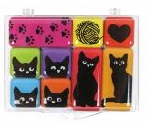 Albi Sada epoxy magnetov Mačky 9 kusov 9,2 cm x 6,6 cm x 1 cm