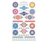 Arch Velikonoční vodové obtisky na vajíčka kraslice modrobarevné 28 obrázků 9,5 x 15 cm