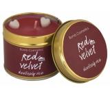 Bomb Cosmetics Red Velvet Vonná prírodné, ručne vyrobená sviečka v plechovej dóze horí až 35 hodín