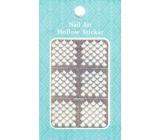 Nail Accessory Hollow Sticker šablónky na nechty multifarebné kvapky 1 aršík 129
