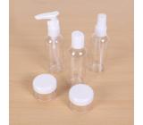 Albi Original Cestovná sada fľaštičiek 3 x 80 ml + 2 nádobky + Neutrál puzdro - 15 cm x 15 cm x 4,5 cm