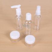 Albi Original Cestovní sada lahviček 3 x 80 ml + 2 nádobky + Neutrál pouzdro - 15 cm x 15 cm x 4,5 cm
