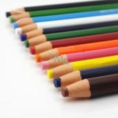 Uni Mitsubishi Dermatograph Priemyselná popisovacie ceruzka pre rôzne typy povrchov Čierna 1 kus