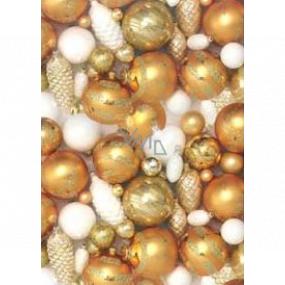Ditipo Darčekový baliaci papier 70 x 200 cm Vianočné zlaté banky