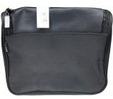 Diva & Nice Kozmetická kabelka čierna s kapsičkou 22 x 20 x 10 cm 90153
