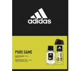 Adidas Pure Game 3v1 sprchový gel 250 ml + toaletná voda pre mužov 50 ml, darčeková sada