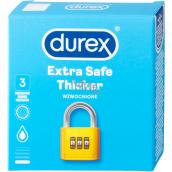 Durex Extra Safe Thicker latexový kondóm, silnejší, nominálna šírka: 56 mm 3 kusy