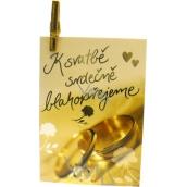 Nekupto Dárková kartička K svatbě srdečně blahopřejeme 7 x 5,5 cm 1 kus