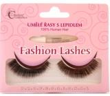 Absolute Cosmetics Fashion Lashes umelé nalepovacie riasy stredne dlhé obloučkové čierne 76 čierne 1 pár