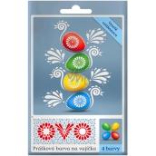 Ovo 4 práškové farby na vajíčka 4 x 5 g 1 vrecko (5 g) = 10 - 15 vajec
