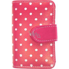 Albi Dizajnová manikúra Ružová s bodkami 6 dielna