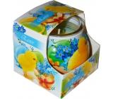 Admit Easter Blue dekoratívne aromatická sviečka v skle 80 g
