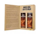 Bohemia Gifts Pre hasičov sprchový gél 200 ml + šampón na vlasy 200 ml, kniha kozmetická sada