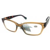 Berkeley Čítacie dioptrické okuliare +2,5 plast svetlo hnedé, tigrované stranice 1 kus ER4198