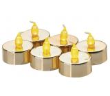 Emos Sviečky LED svietiaci jantárovej, 3,8 cm, 6 kusov zlaté