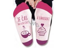 Nekupto Rodinné darčeky s humorom Ponožky Je čas na kávičku, veľkosť 39-42